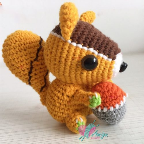 Squirrel amigurumi crochet – Chinese Pattern