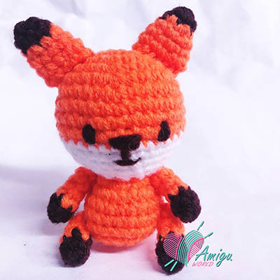 Fox amigurumi crochet