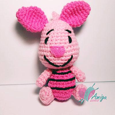 Tự tay móc bạn heo Piglet bé xinh bằng len