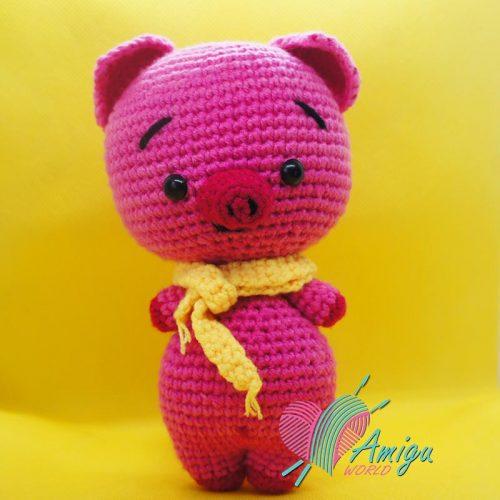 Pink piggy cute amigurumi