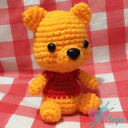 Hướng dẫn móc gấu Pooh bằng len miễn phí