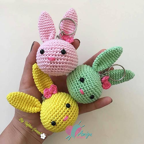 Bunny keychain amigurumi – Turkey Pattern