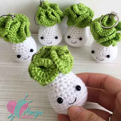 Cabbage keychain crochet – Chinese Pattern