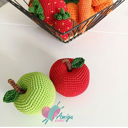 Big apple amigurumi crochet pattern