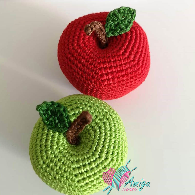 How to crochet Big apple amigurumi pattern