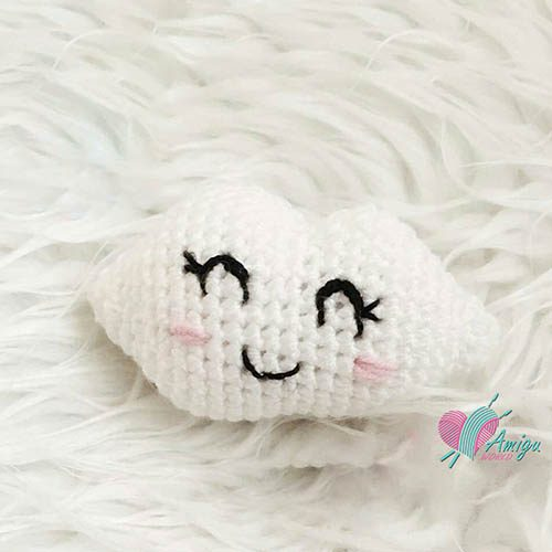 How to crochet an amigurumi white cloud