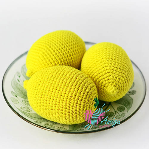 Lemon amigurumi crochet pattern