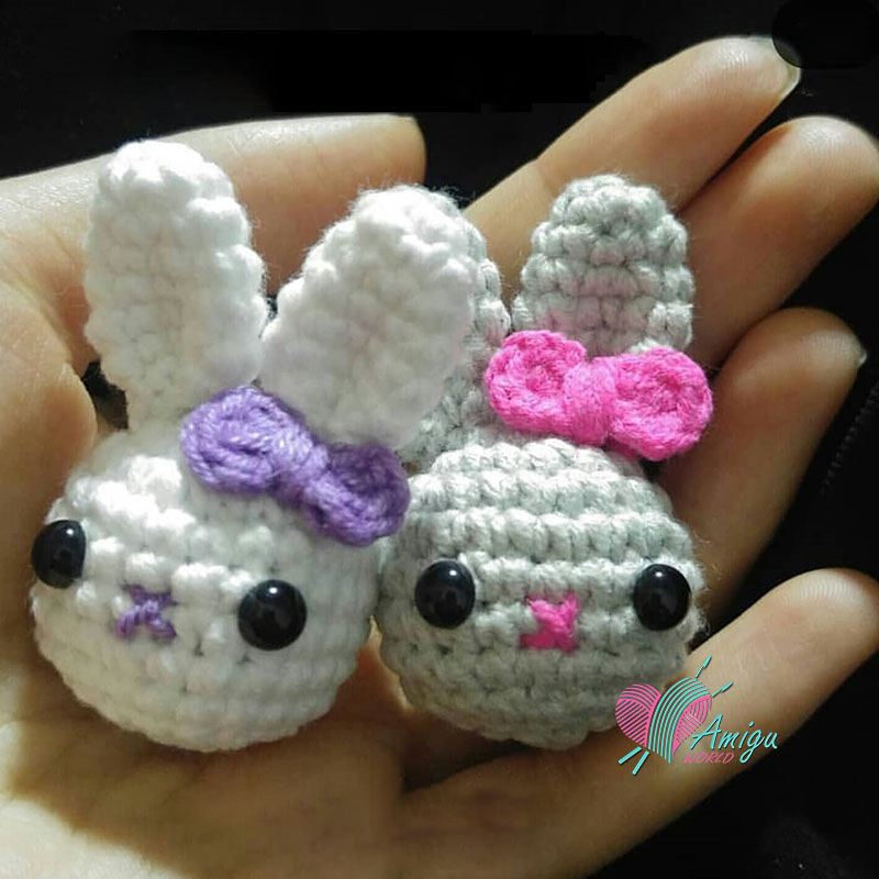 mini rabbit keychain