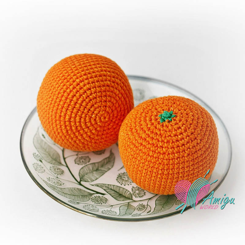 Orange amigurumi crochet pattern
