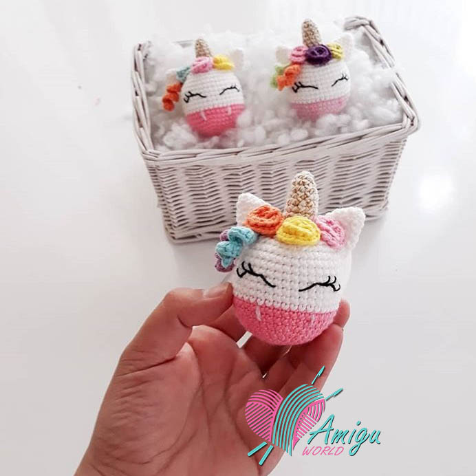 Unicon keychain amigurumi English free pattern