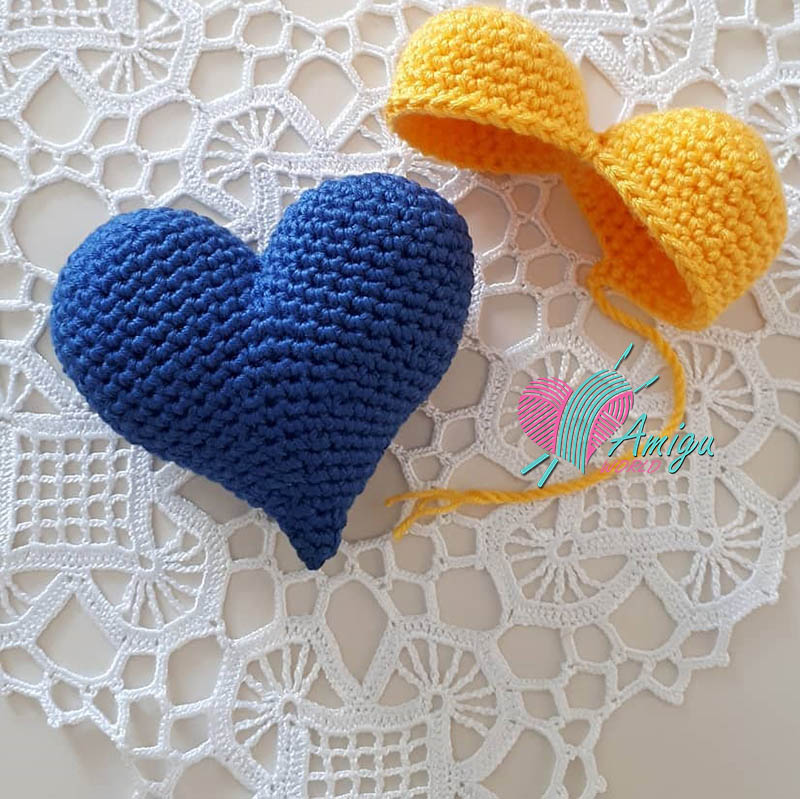 Amigurumi Love Heart Free Crochet Pattern | 799x800
