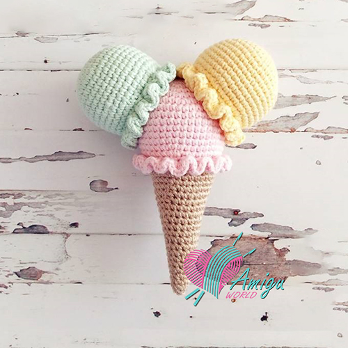 Ice cream amigurumi free crochet