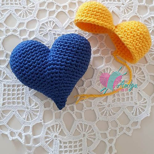 Heart keychain amigurumi – Turkey Pattern