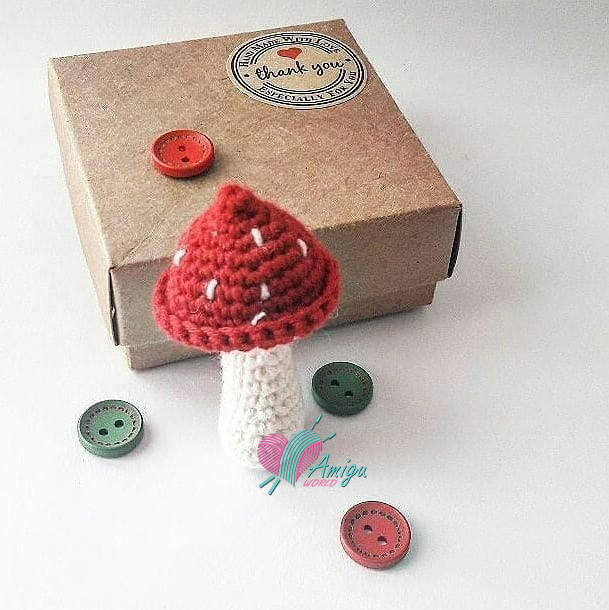 PDF Mushroom Collection: six realistic CROCHET PATTERNS | Crochet ... | 610x609