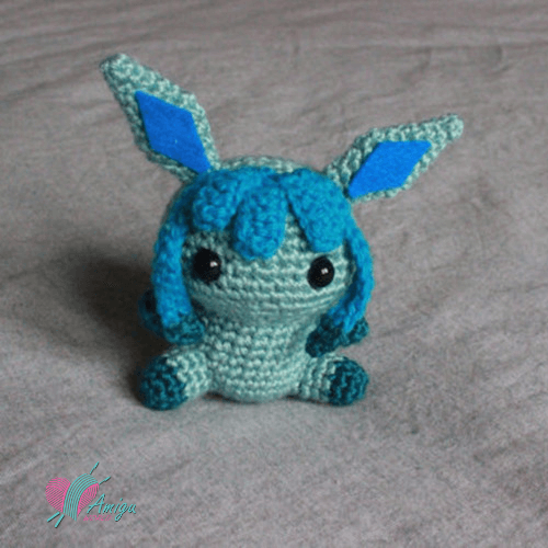 Glaceon amigurumi crochet free – English Pattern
