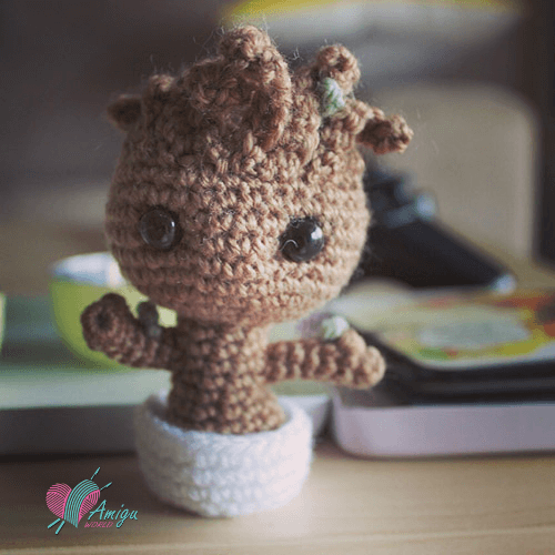 Groot amigurumi crochet – English Pattern