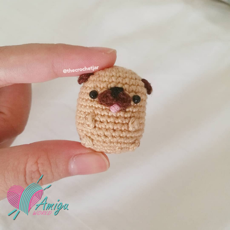 Tiny Potato Pug Amigurumi Free Crochet