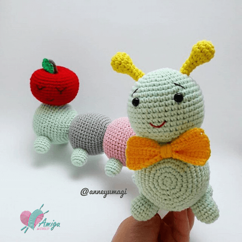 Colorful worm amigurumi crochet free – Turkey pattern