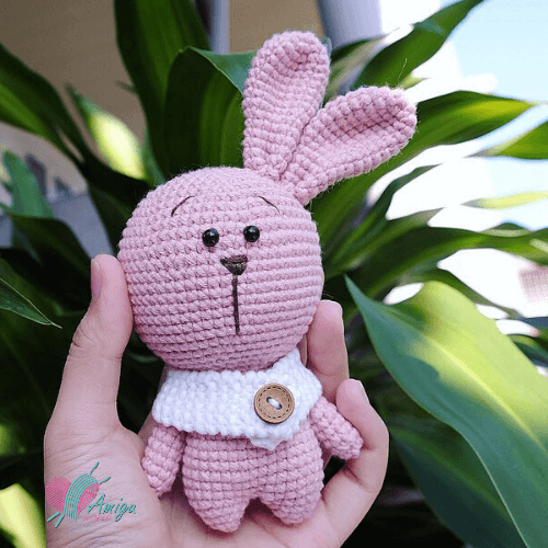 Amigurumi cute fat bunny crochet pattern