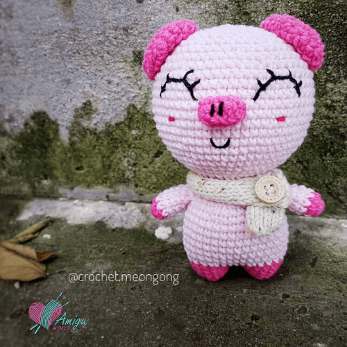 Cute fat piggy amigurumi free crochet pattern