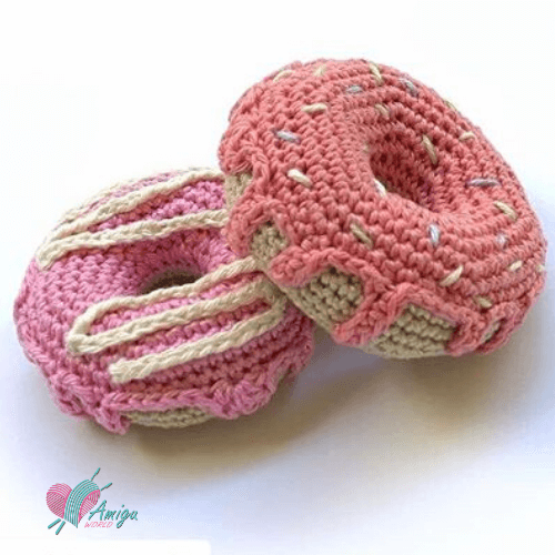 How to crochet sweet amigurumi donut