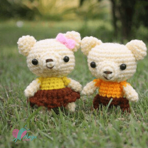 Couple bear amigurumi – Thailand Pattern