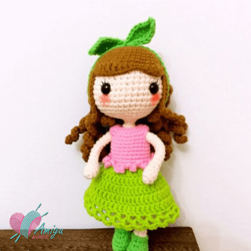 Blushy girl doll amigurumi free pattern by Tifaily – Chinese Pattern