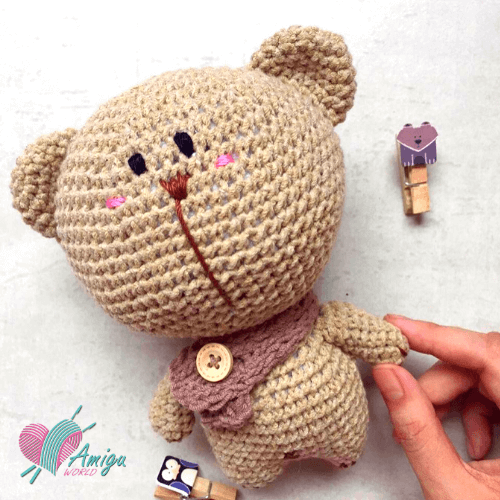 Lovely fat bear amigurumi free crochet pattern