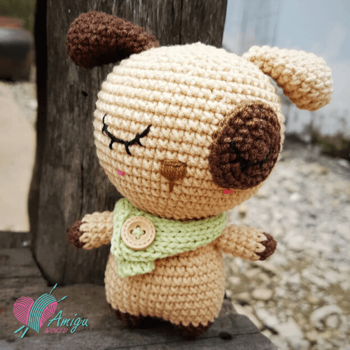 Cute fat dog amigurumi free crochet pattern