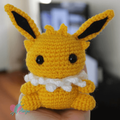 Crochet amigurumi Jolteon in Pokémon – English Pattern