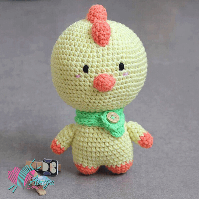 Fat chicken amigurumi free pattern by lenlenlenlen