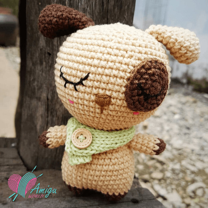Fat dog amigurumi free crochet pattern (Photo by: Meongong)