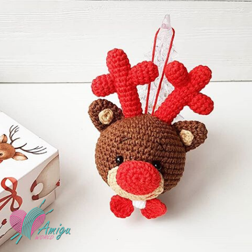 Christmas decoration sweet deer amigurumi – Russia pattern