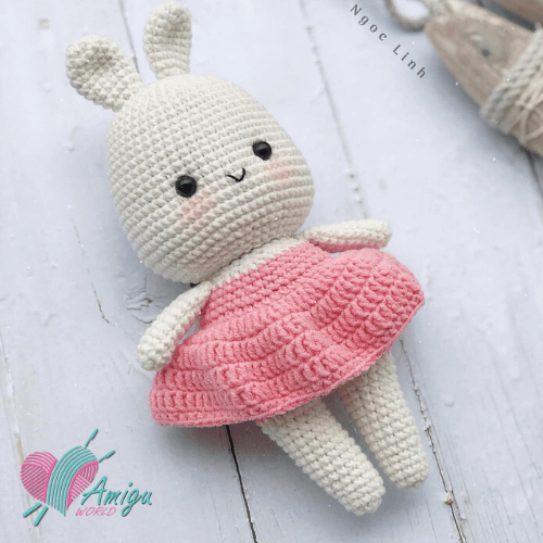 Cute Nina the little bunny amigurumi – English pattern