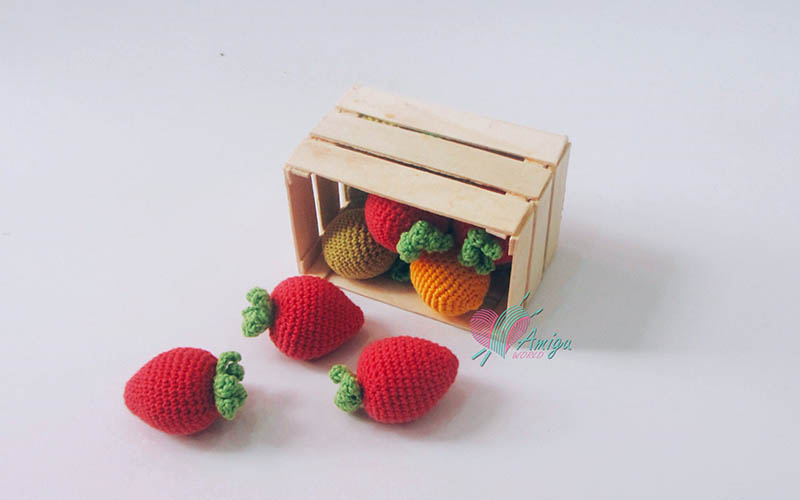 How to crochet Strawberry crochet English pattern
