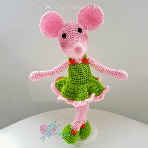 Sweet mouse in a dress amigurumi – Thailand pattern