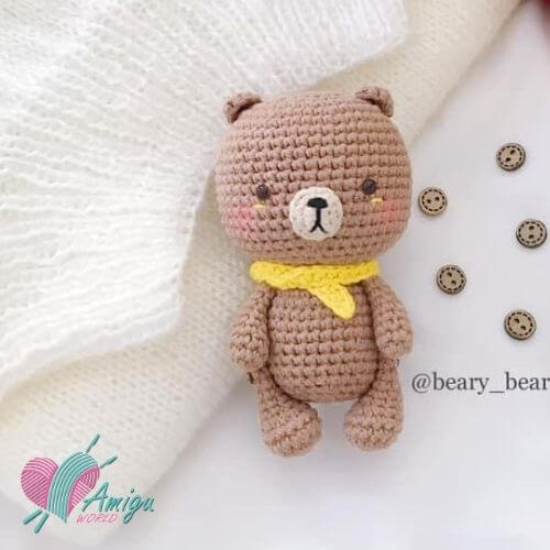 Baby Teddy Bear amigurumi free English Pattern