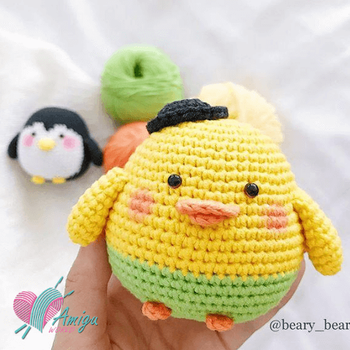 Chubby duck amigurumi free English Pattern