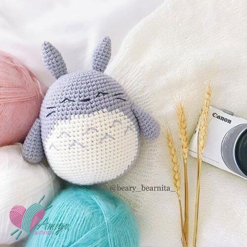 Chubby Totoro amigurumi free English Pattern