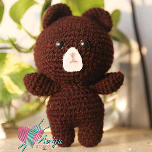 Line friends Brown bear amigurumi free pattern