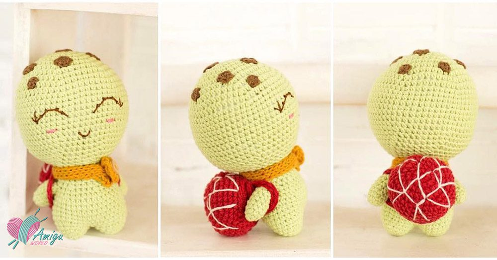 How to make a turtle amigurumi free pattern