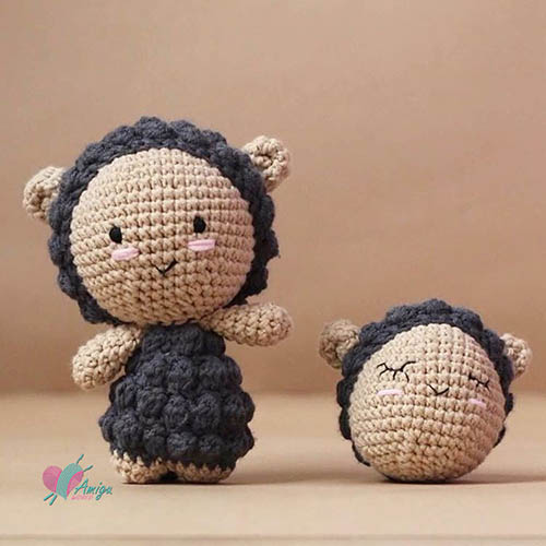 Little sheep amigurumi free crochet pattern