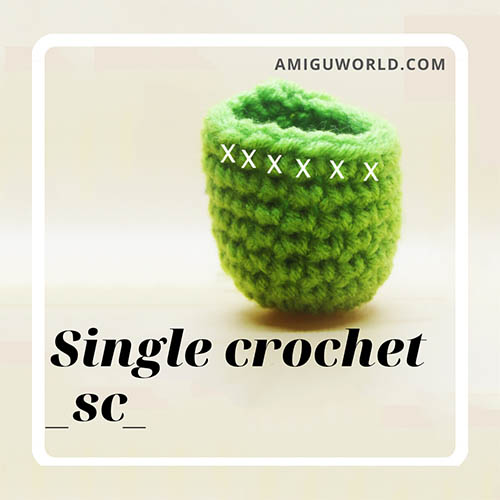 How to make single crochet stitch amigurumi