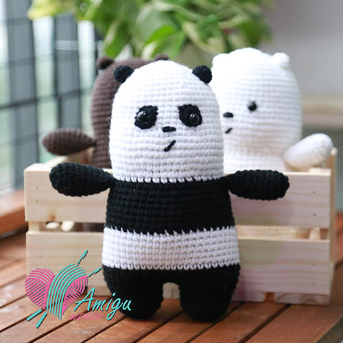 How to crochet panda bear amigurumi