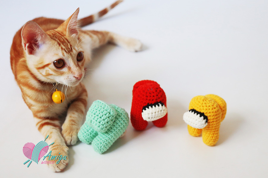 Cat with Among Us How to crochet Among Us Crewmates Amigurumi