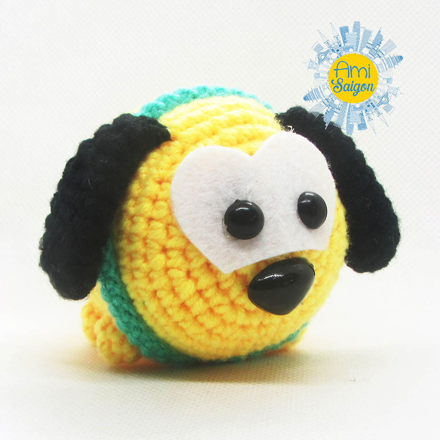 How to crochet Pluto Dog amigurumi Tsum Tsum
