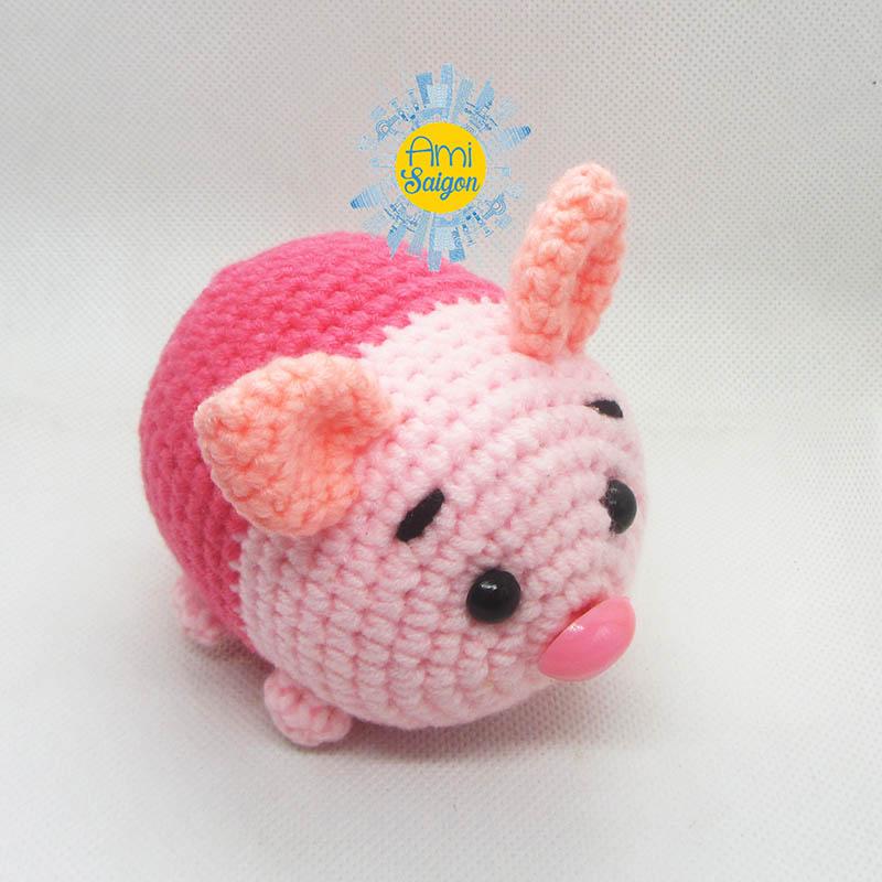 Crochet Piglet Amigurumi Tsum Tsum Disney Characters
