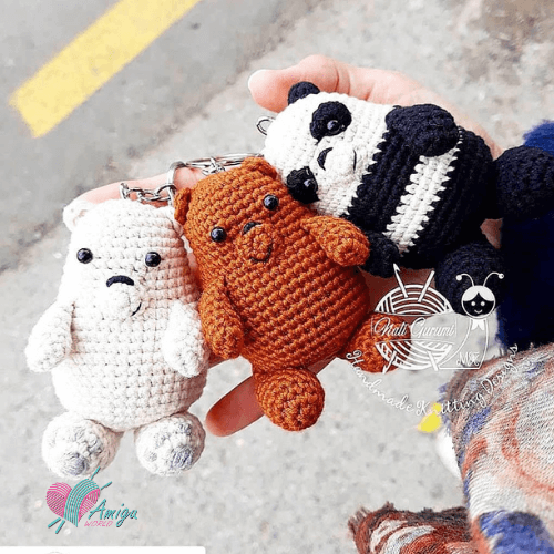 We bare bears amigurumi – Azerbaijan pattern