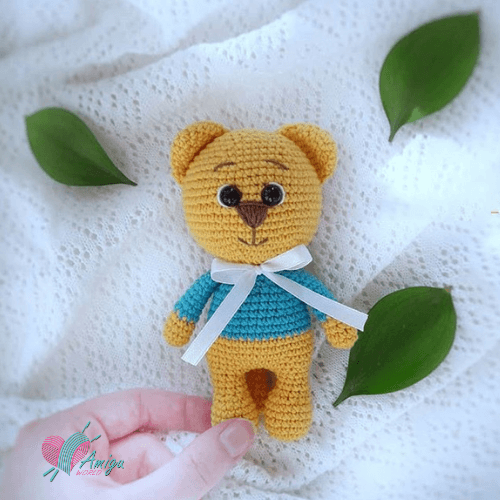 Cute yellow bear amigurumi – Russia Pattern