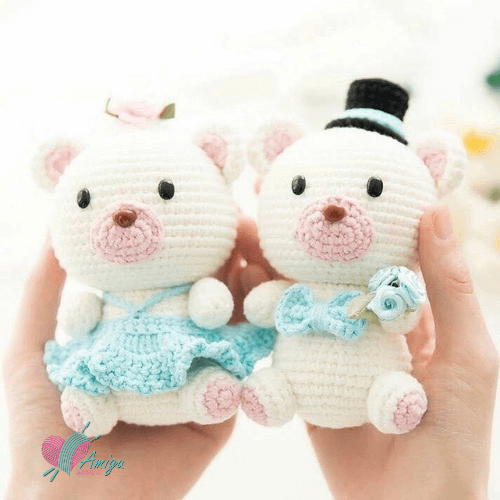 Couple of pigs in love amigurumi – Chinese Pattern
